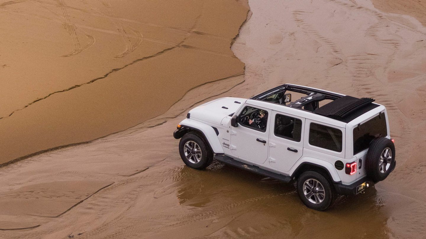 2020 Jeep Wrangler Unlimited Rear White Exterior Picture