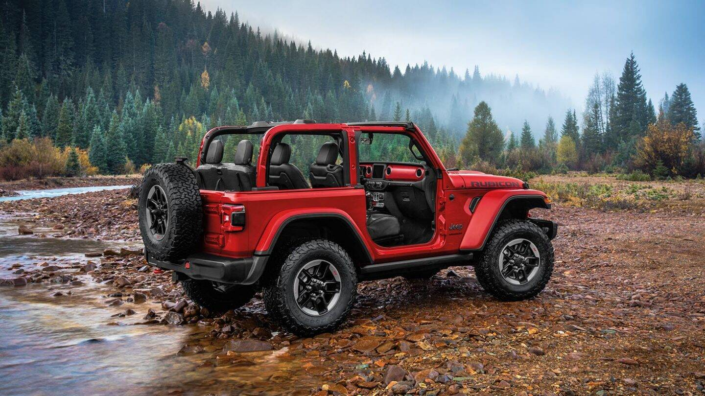 2020 Jeep Wrangler Rear View Red Exterior Picture