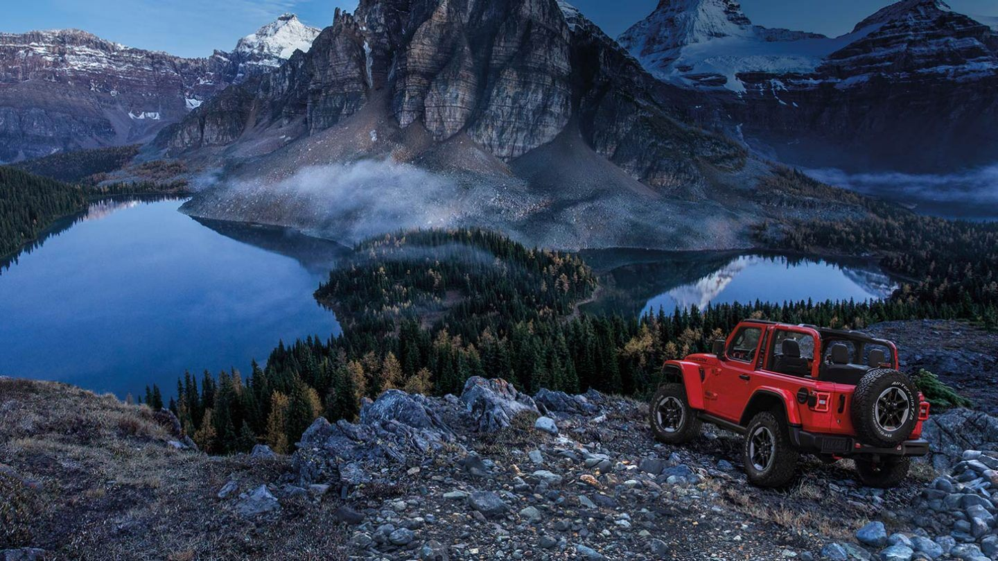 2020 Jeep Wrangler Red Exterior Rear Picture