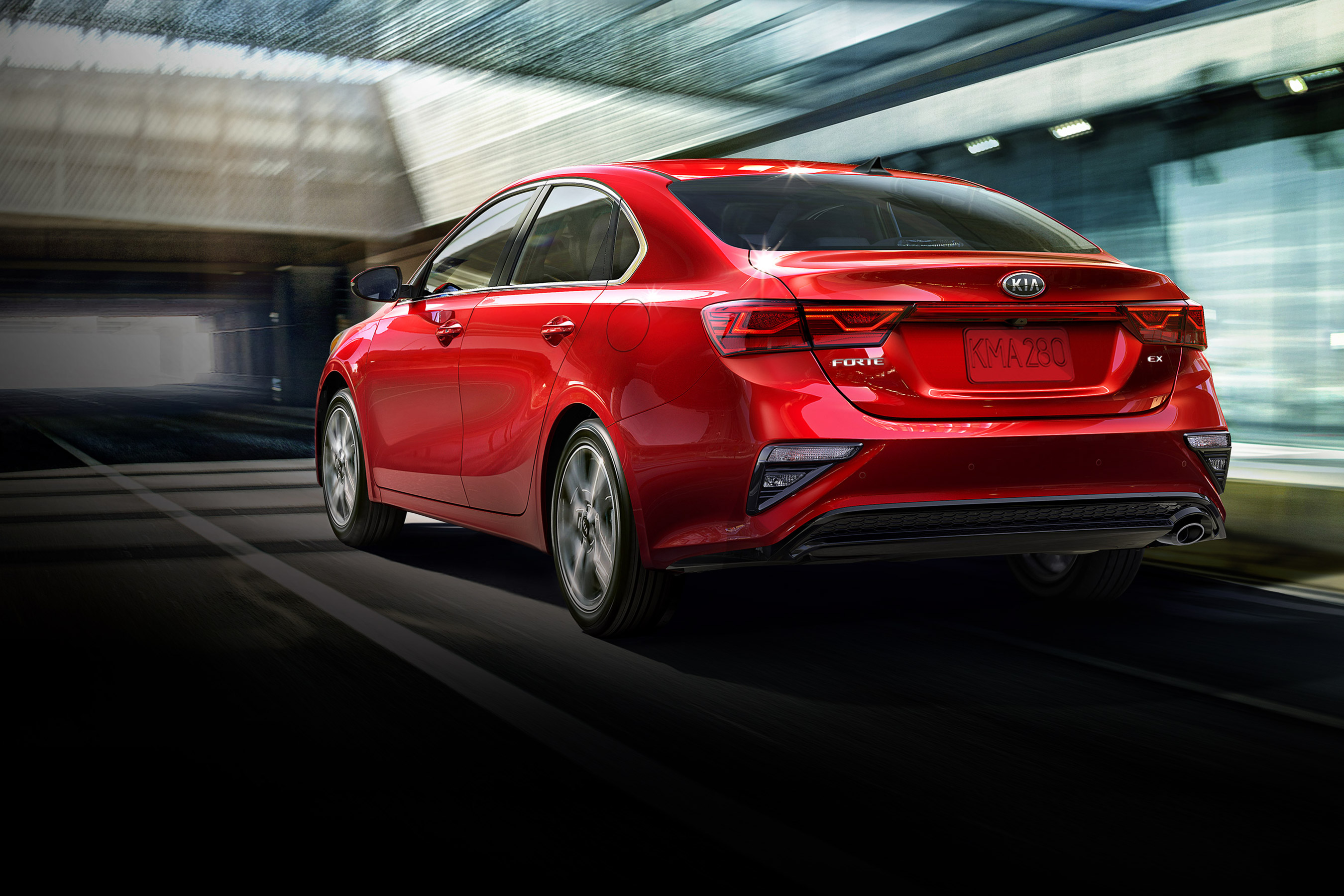 2020 Kia Forte Rear View Red Exterior Picture