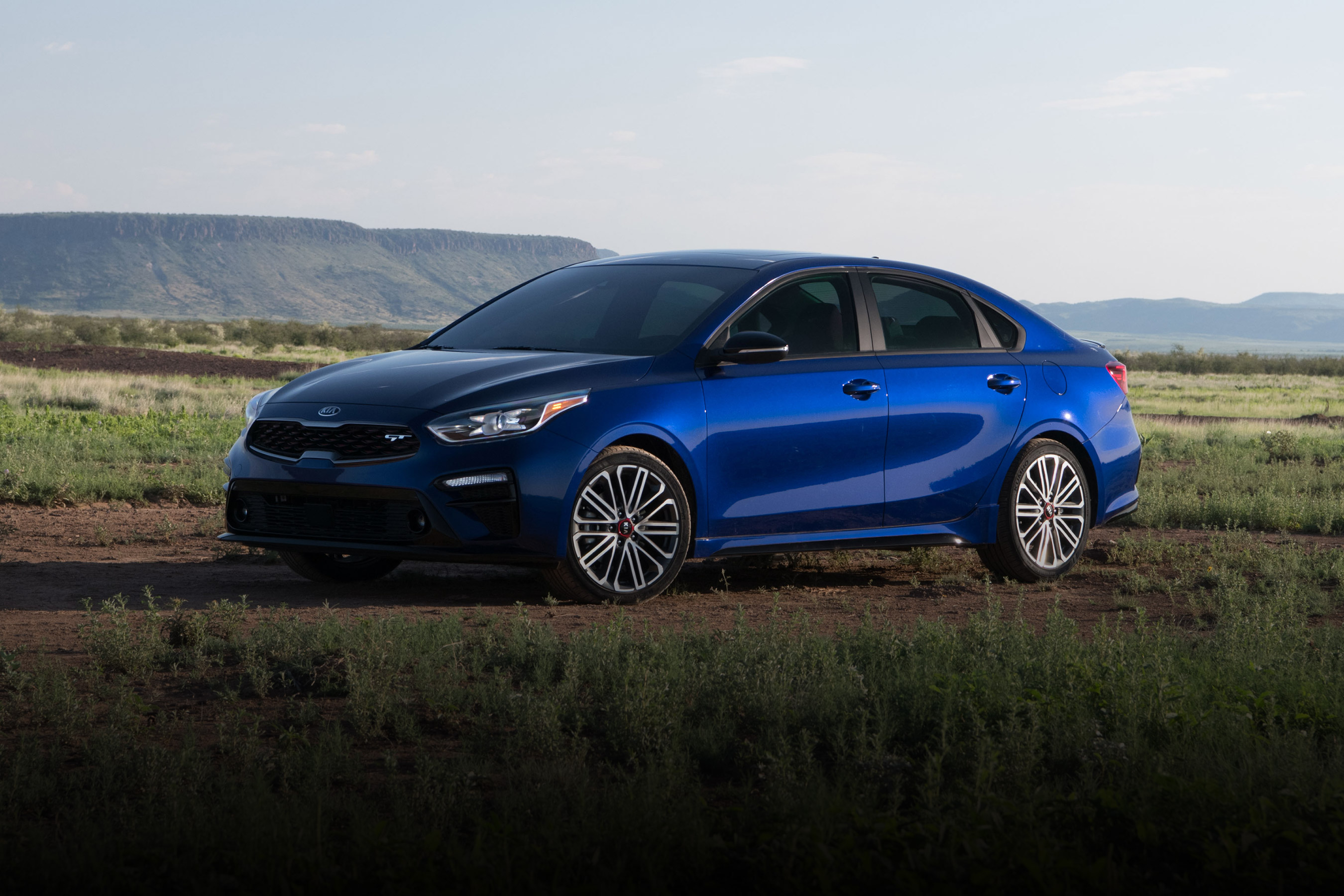 2020 Kia Forte Side View Blue Exterior Picture