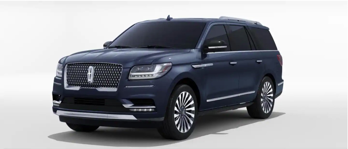 2020 Lincoln Navigator L Front View Blue Exterior Picture