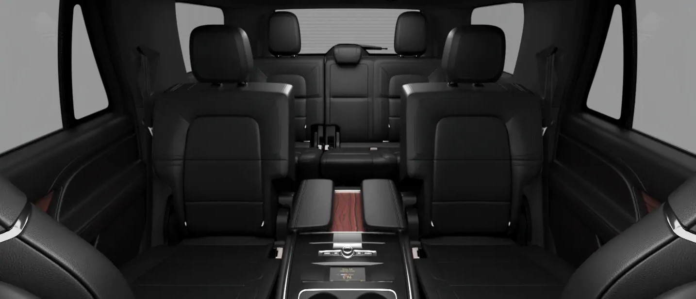 2020 Lincoln Navigator L Rear View Interior Seating Picture