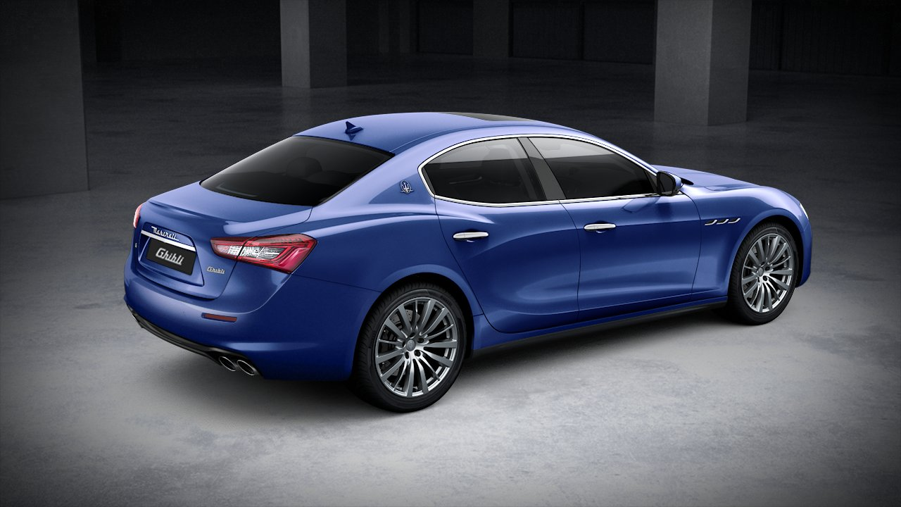 2020 Maserati Ghibli S Rear View Blue Exterior Picture