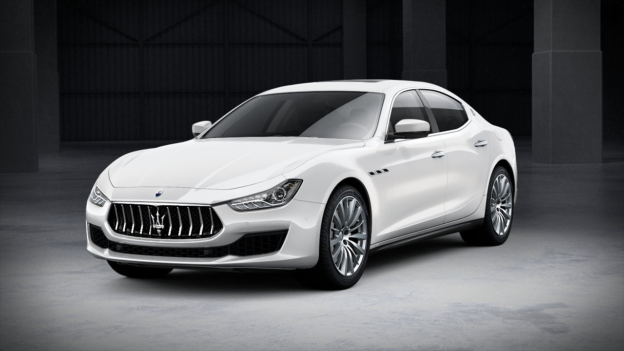 2020 Maserati Ghibli White Front Exterior Picture