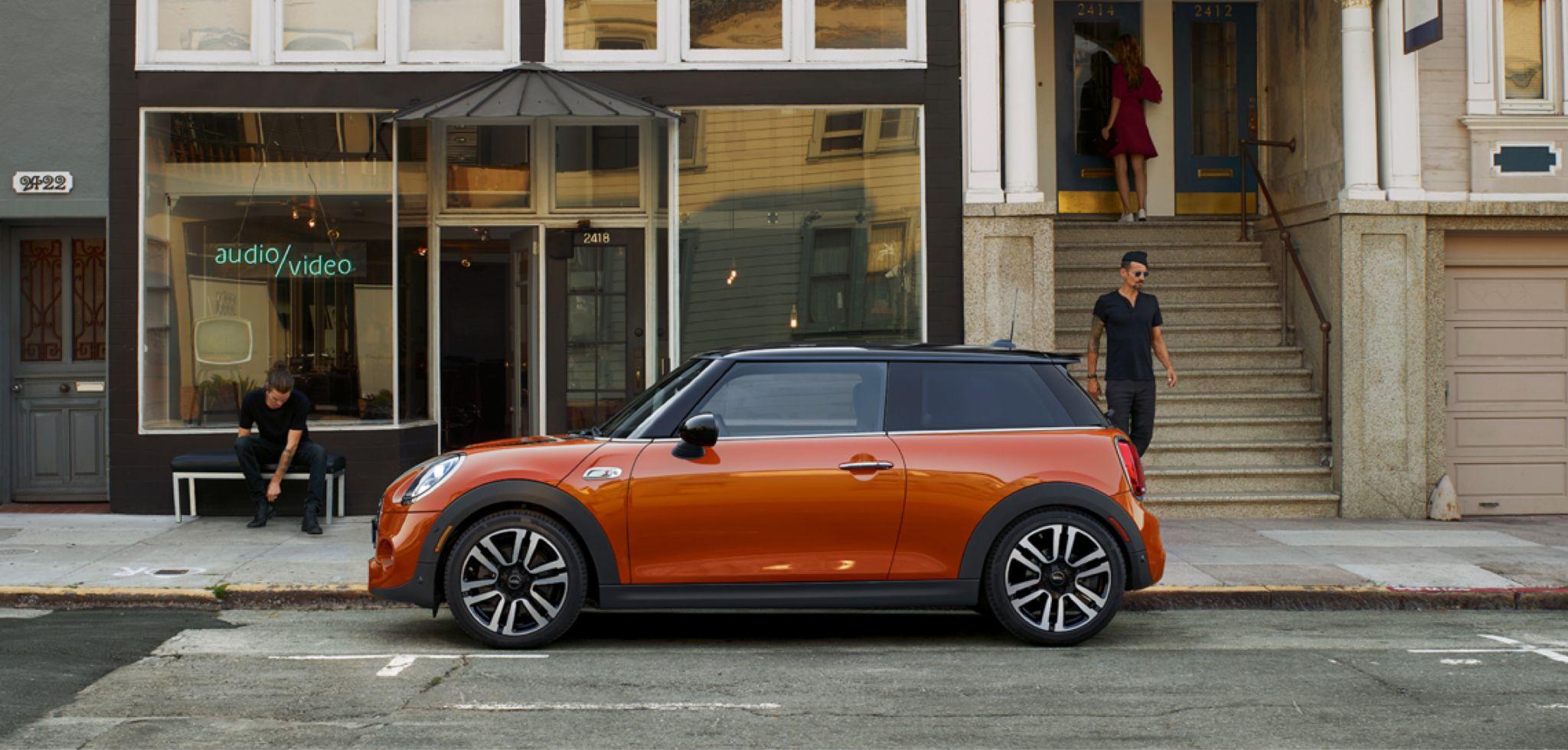2020 Mini Cooper Hardtop 2 Door Side View Orange Exterior Picture