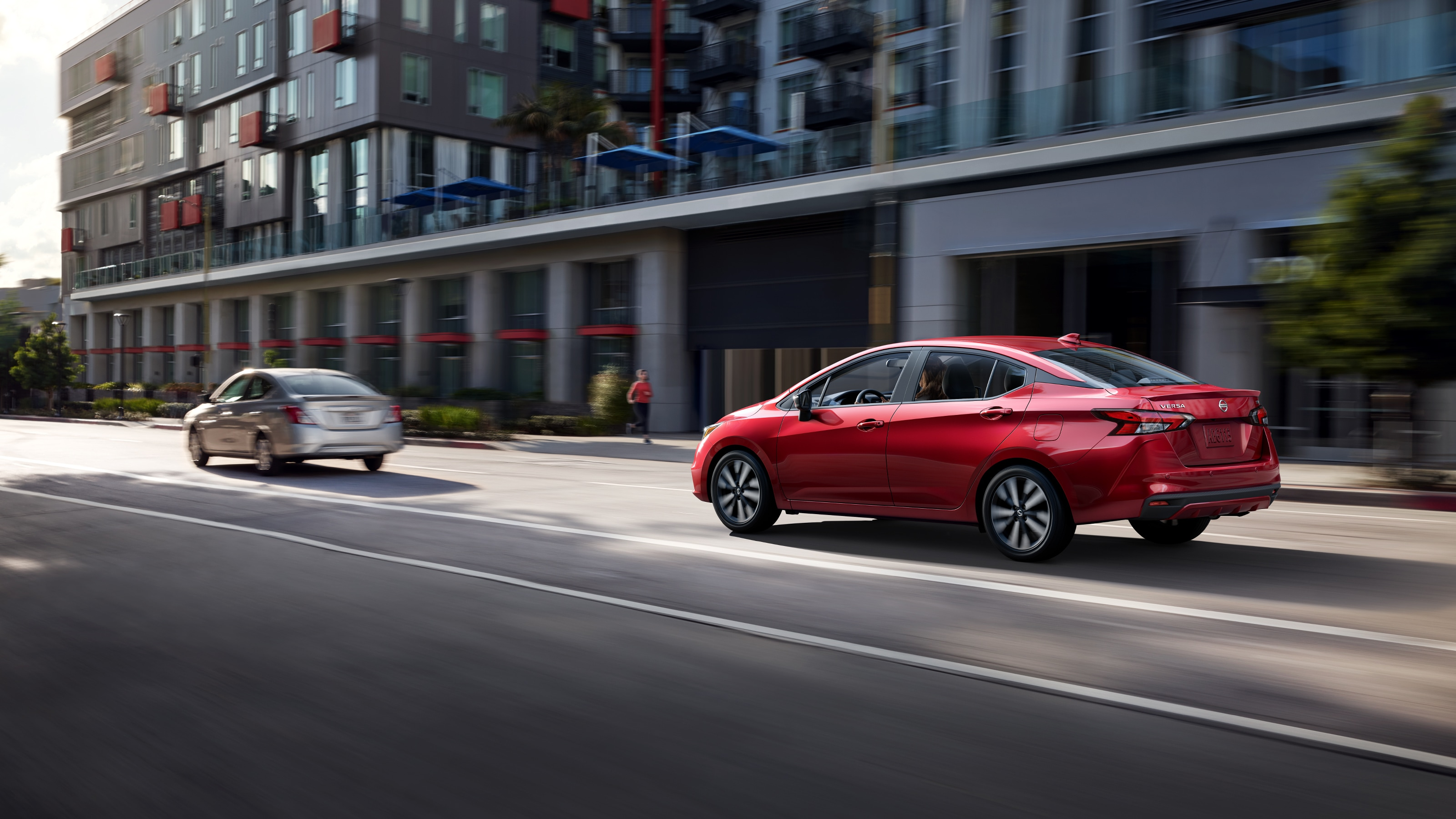 2020 Nissan Versa Rear Red Exterior Picture