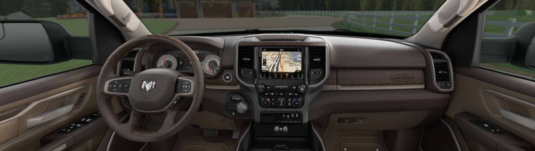 2020 Ram 1500 Longhorn Front Interior Dash Picture