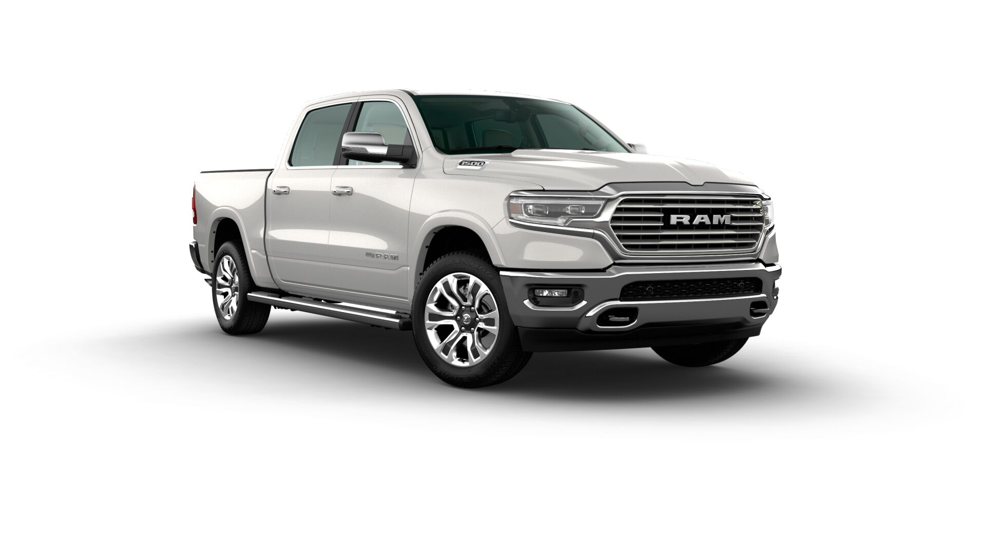 2020 Ram 1500 Longhorn Front White Exterior Picture