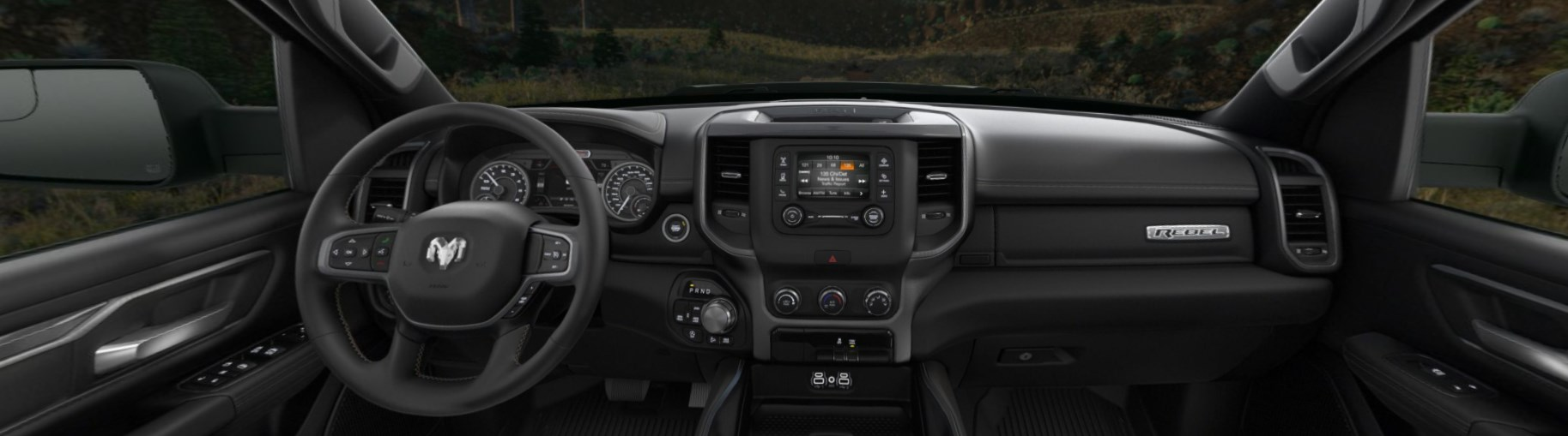 2020 Ram 1500 Rebel Front Interior Dashboard Picture