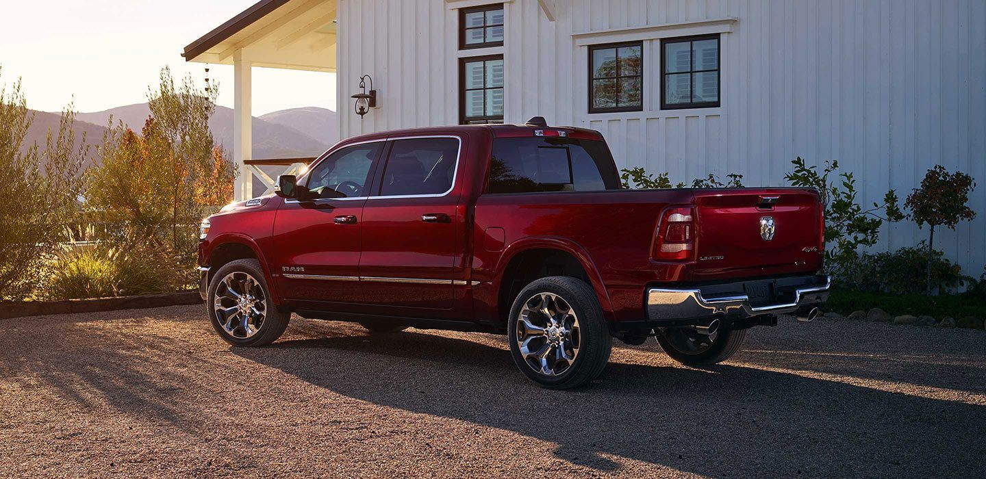 2020 Ram 1500 Back Angle Exterior Red Picture