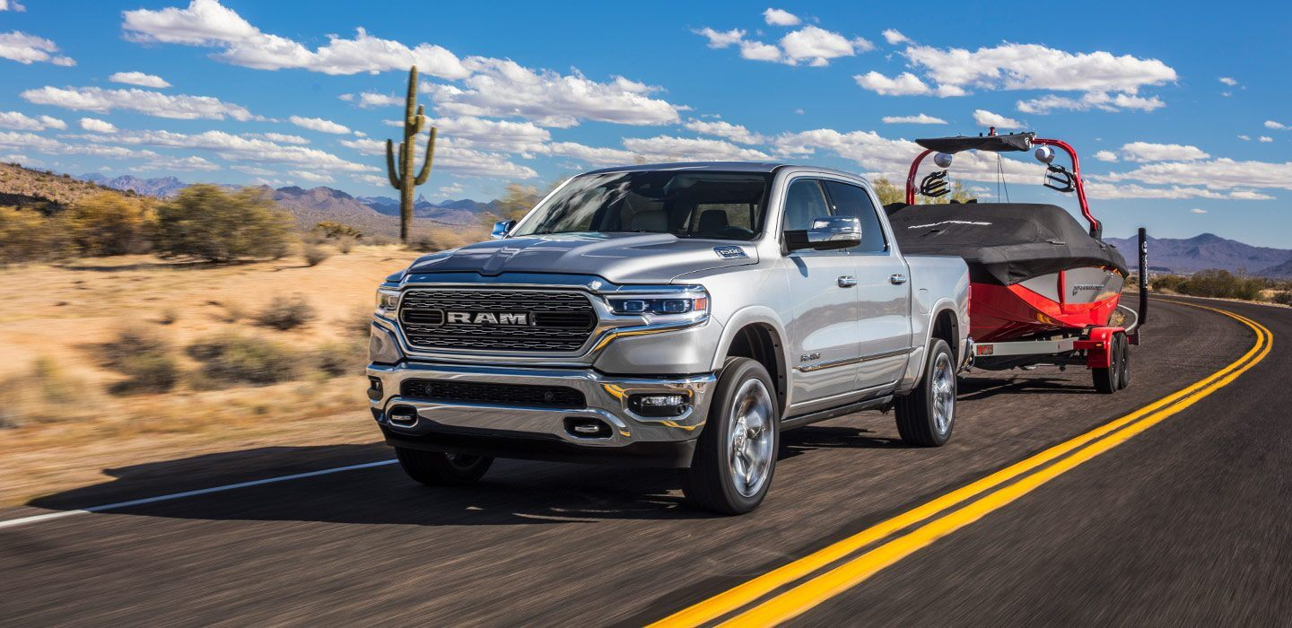 2020 Ram 1500 Front Exterior Silver Towing Picture