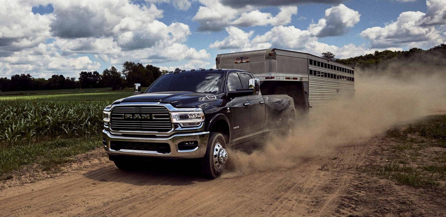2020 Ram 3500 Front View Blue Exterior Picture Towing