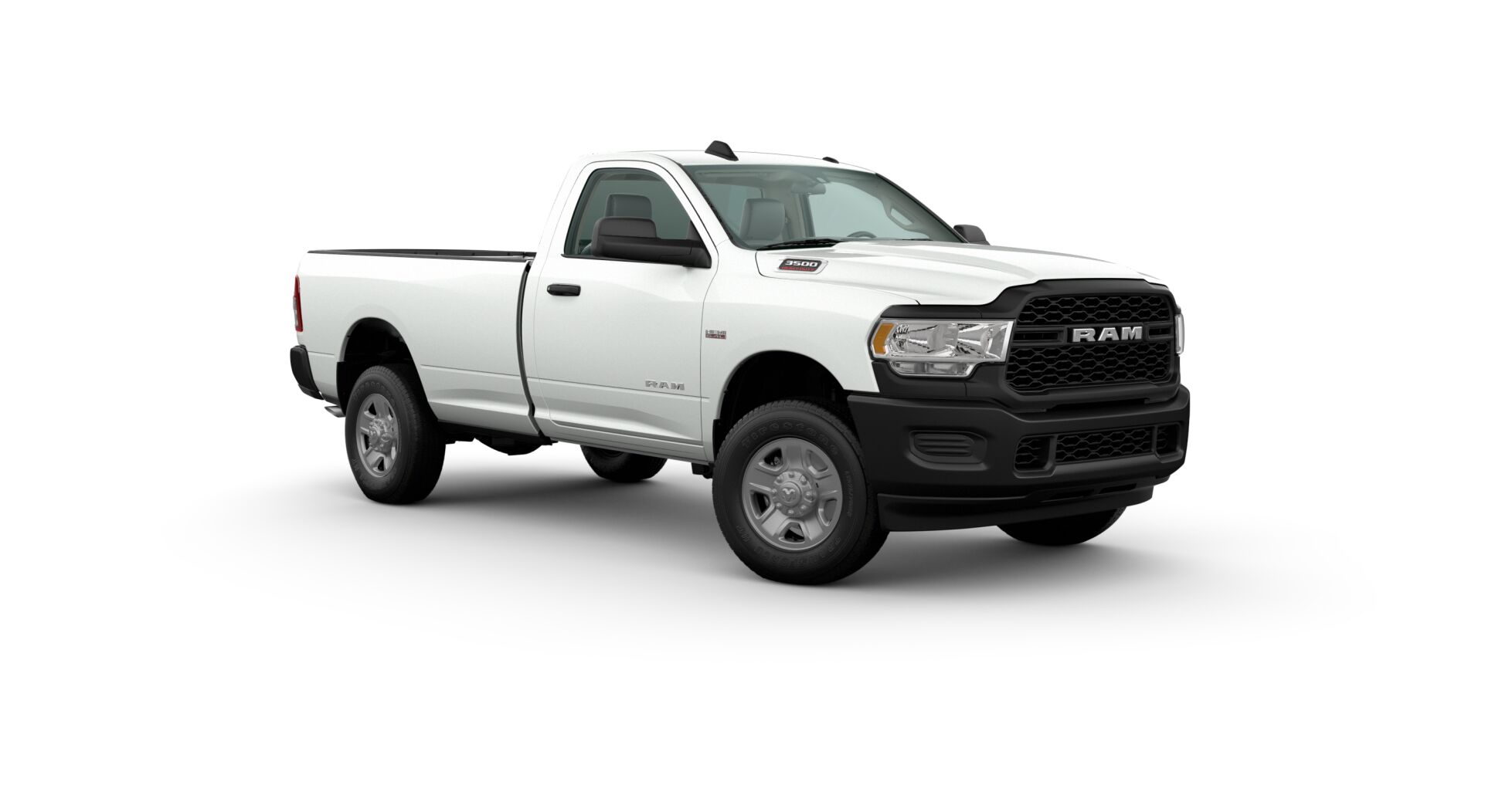 2020 Ram 3500 Front View White Exterior Picture.jfif